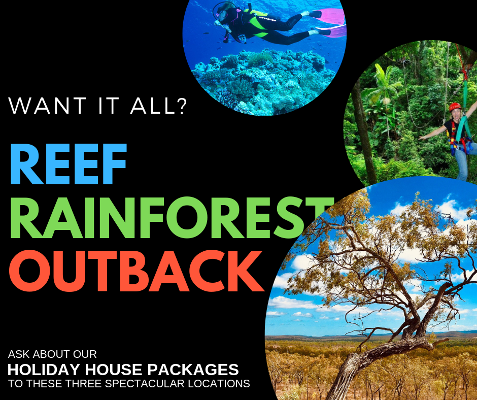 Experience a holiday in the Outback, Reef and Rainforest